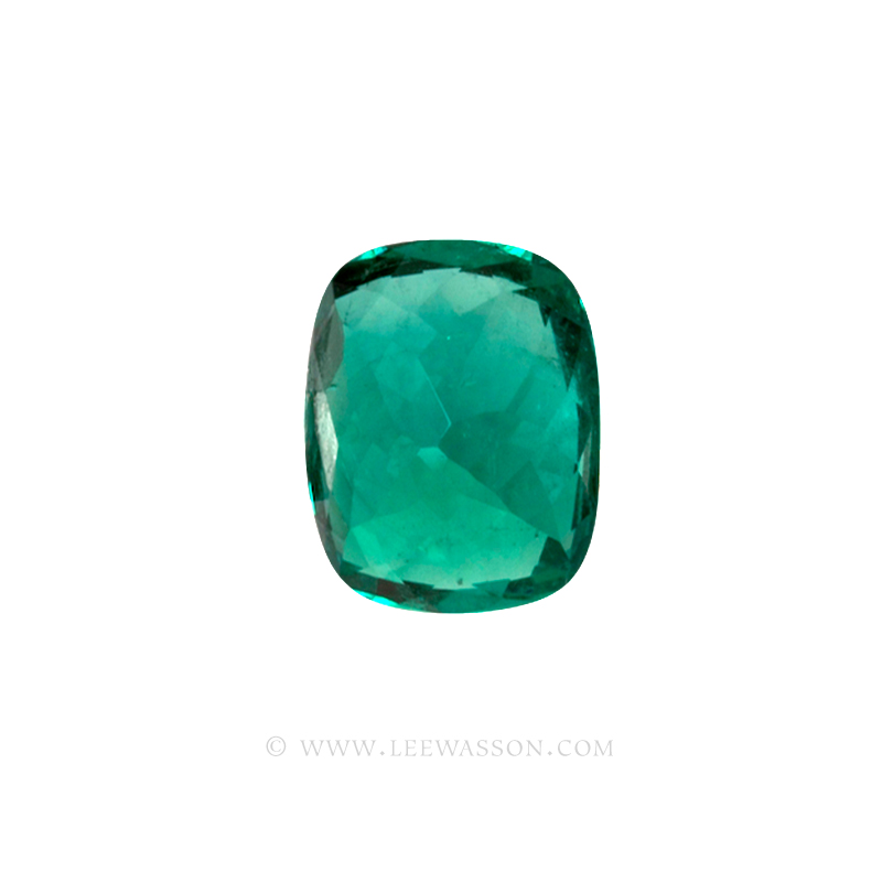 Colombian Emeralds Cushion Cut and set in 18k White Gold - leewasson.com - 10043 - 3