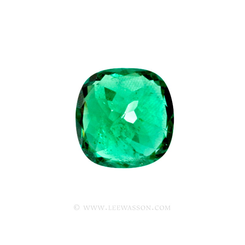 Colombian Emeralds, Cushion Cut Emeralds - leewasson.com - 10045 - 4
