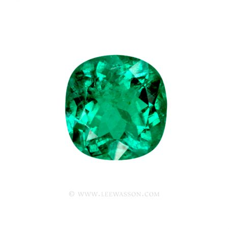 Colombian Emeralds, Cushion Cut Emeralds and set in 18k White Gold - leewasson.com - 1 - 10045