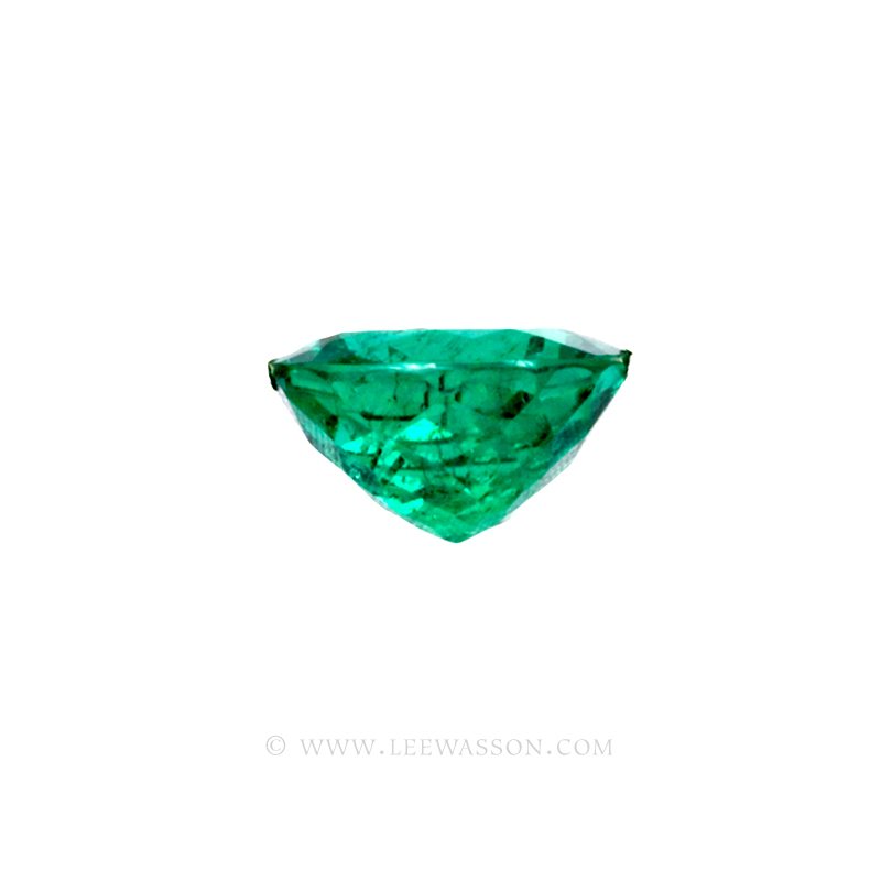 Colombian Emeralds, Cushion Cut Emeralds - leewasson.com - 10045 - 3