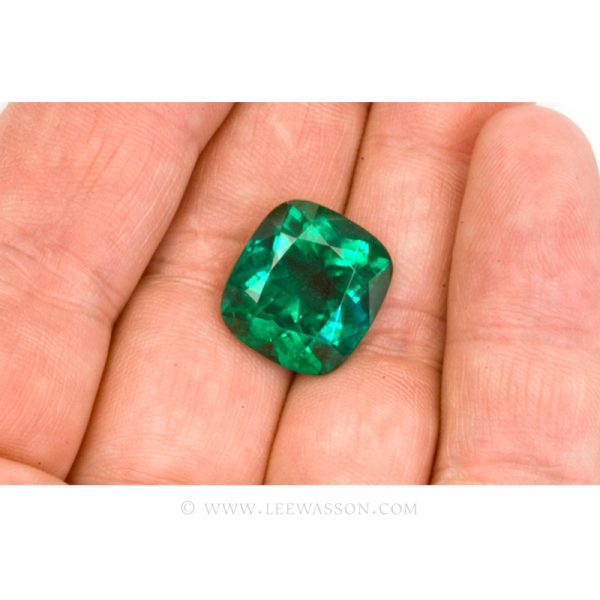Colombian Emeralds Cushion Cut Emeralds - leewasson.com - 10049 - 4