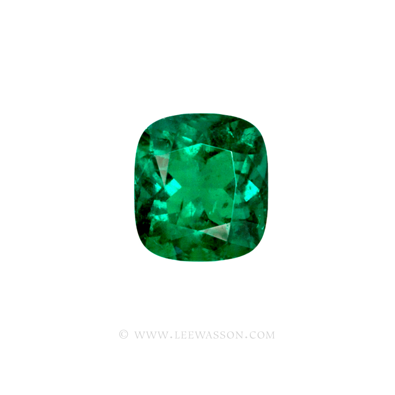 Colombian Emeralds Cushion Cut Emeralds - leewasson.com - 10049 - 2