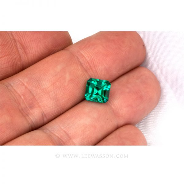 Colombian Emeralds, Asscher cut Emeralds - leewasson.com - 10065 -2