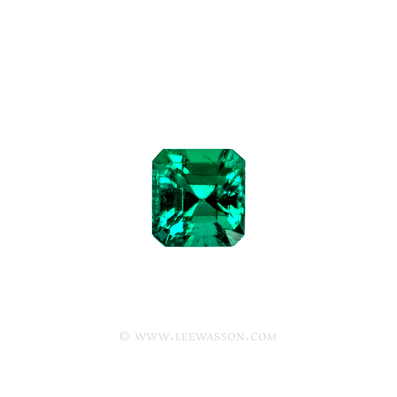 Colombian Emeralds, Asscher cut Emeralds - leewasson.com - 10065 -1
