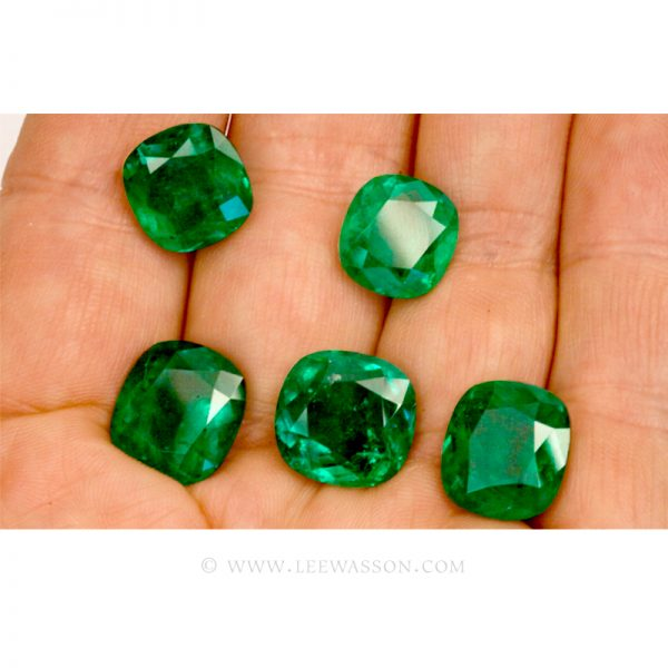 Colombian Emeralds, Set of Cushion Cut Emeralds, Approx. 49.00 Carat. - leewasson.com - 10016 -6