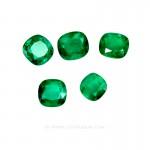 Colombian Emeralds, Set of Cushion Cut Emeralds, Approx. 49.00 Carat. - leewasson.com - 10016 -4