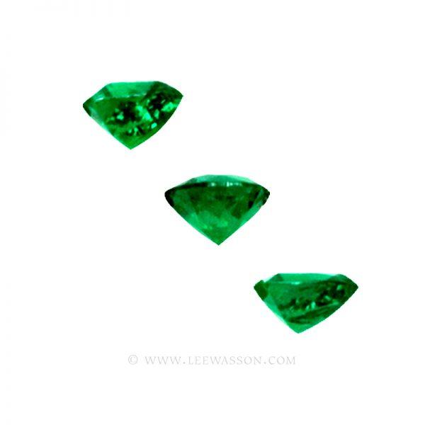 Colombian Emeralds, Trio of Trillion Cut Emeralds. leewasson.com - 2 - 1009allas