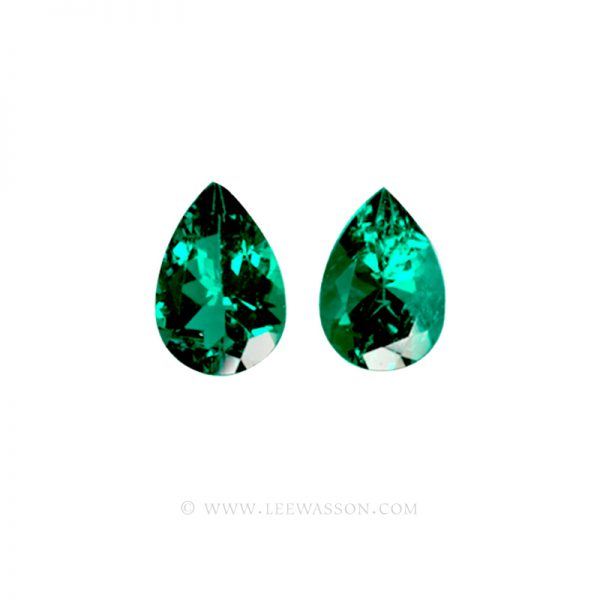 Colombian Emeralds - Pair of Pear Shape Emeralds, Weight Approx. 4.50 Carats, leewasson.com - 1000 -1