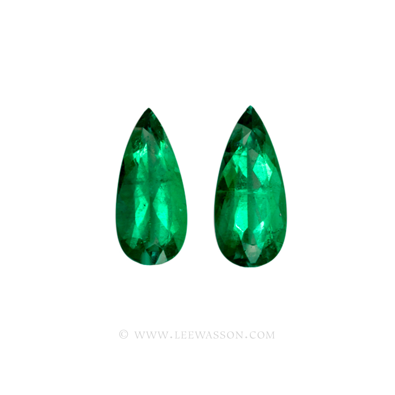Colombian Emerald, Pear Shape, Pairs, Loose