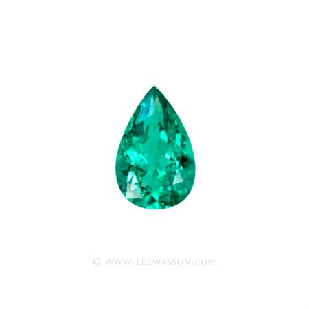 Colombian Emeralds, Pear Shape Emeralds, Over 4.00 Carat, Sparkling Chivor Mine Emerald. leewasson.com – 10025 -1