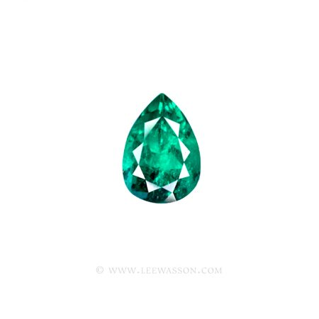 Colombian Emeralds, Pear Shape Emeralds, leewasson.com -1003 -1