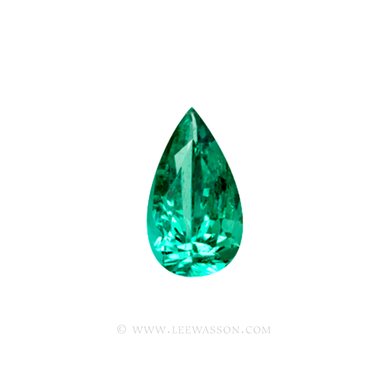 Colombian Emeralds, Tear Shape Emeralds, Over 5.50 Carats. Chivor Mine. leewasson.com -10032 -1