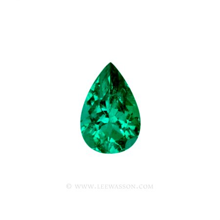 Colombian Emeralds, Tear Shape Emeralds Over 6.50 Carats of Bluish Green. leewasson.com -10038 -1