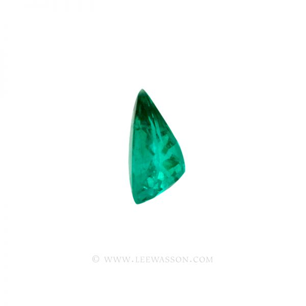 Colombian Emeralds, Tear Shape Emeralds Over 6.50 Carats of Bluish Green. leewasson.com -10038 -3