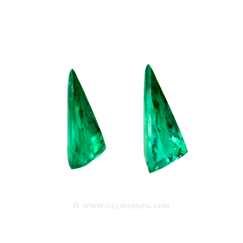 Colombian Emeralds, Pair of Tear Shape Emeralds, Over 10.00 Carats. leewasson.com – 10044 -3
