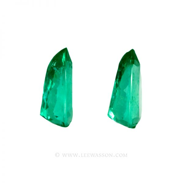 Colombian Emeralds - Pair of Pear Shape Emeralds Approx. 11.00 Carats. leewasson.com -10046 -2