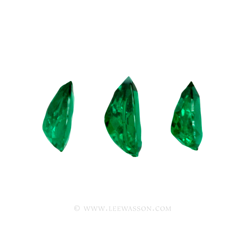 Colombian Emeralds - Trio of Pear Shape Emeralds, Approx. 14 Carat Emerald - leewasson.com -3- 10047