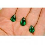 Colombian Emeralds - Trio of Pear Shape Emeralds, Approx. 14 Carat Emerald - leewasson.com -5- 10047