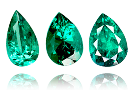 Colombian Emerald, Pear Shape, Loose