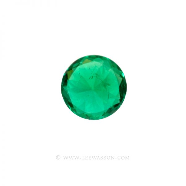 Colombian Emeralds/Round Brilliant Cut Emeralds/18k Emerald Jewelry. leewasson.com – 10011 - 5