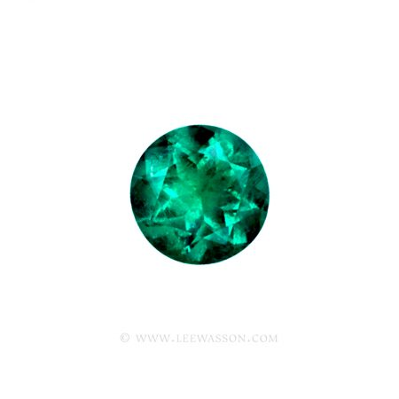 Colombian Emeralds/Round Brilliant Cut Emeralds/18k Emerald Jewelry. leewasson.com – 10011 - 1