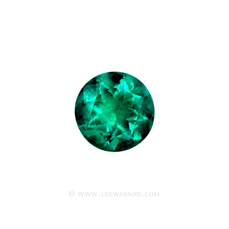 Colombian Emeralds/Round Brilliant Cut Emeralds/18k Emerald Jewelry. leewasson.com – 10011 - 1