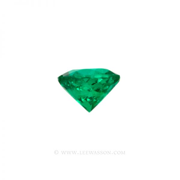 Colombian Emeralds/Round Brilliant Cut Emeralds/18k Emerald Jewelry. leewasson.com – 10011 - 3
