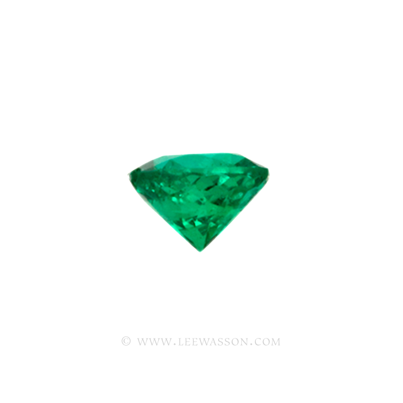 Colombian Emeralds/Round Brilliant Cut Emeralds/18k Emerald Jewelry. leewasson.com – 10011 - 3