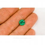 Colombian Emeralds/Round Brilliant Cut Emeralds/18k Emerald Jewelry. leewasson.com – 10011 - 4