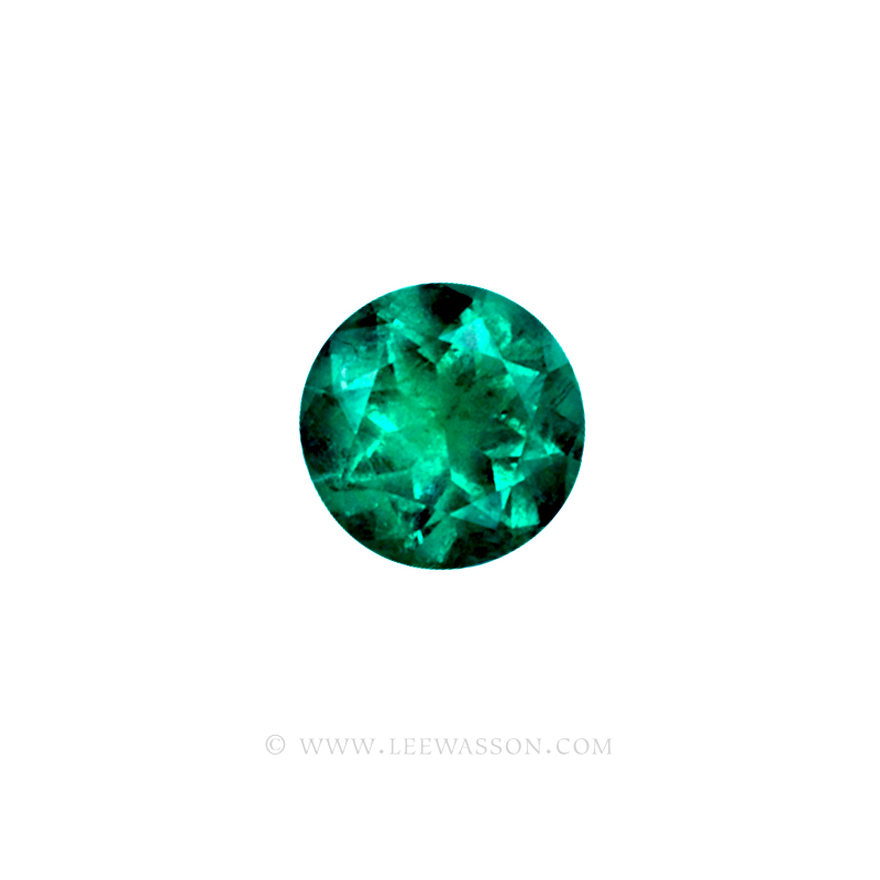 Colombian Emeralds/Round Brilliant Cut Emeralds/18k Emerald Jewelry. leewasson.com – 10011 - 2