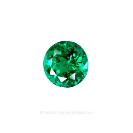 Colombian Emeralds, Round Brilliant Cut Emerald. leewasson.com - 10056 - 1