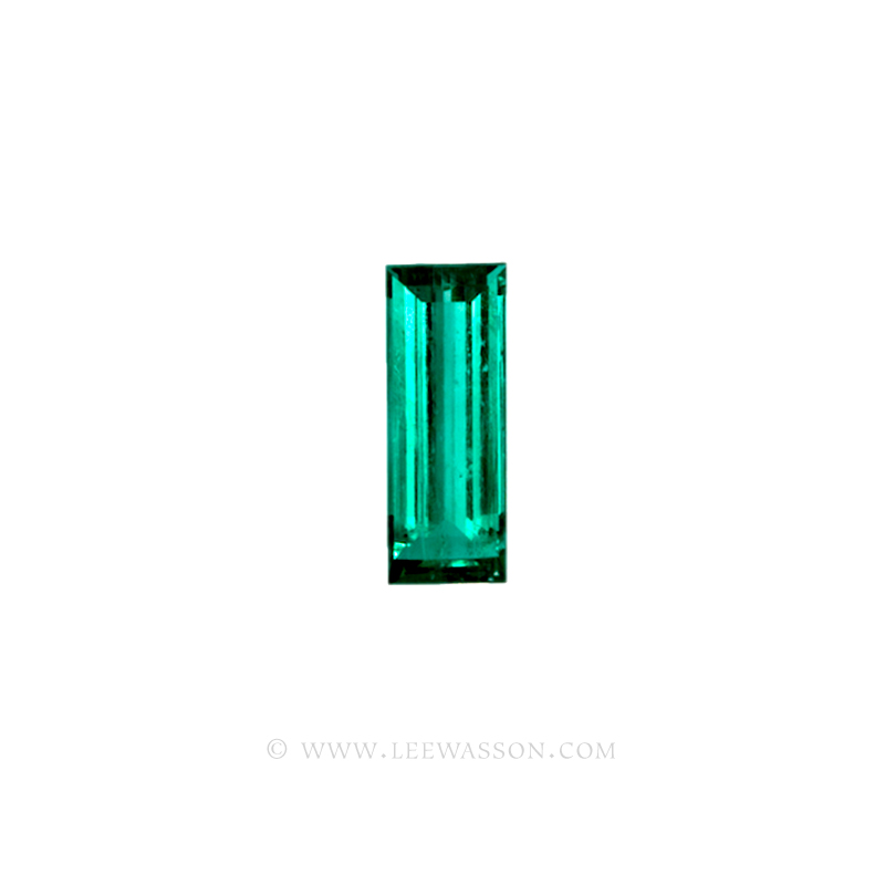 Colombian Emeralds, Baguette cut Emeralds. - leewasson.com - 10024 -2