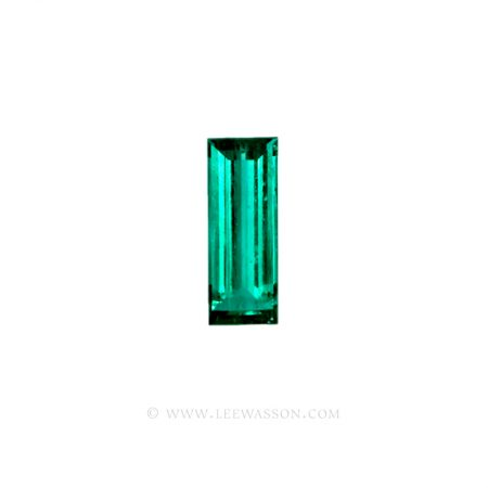 Colombian Emeralds, Baguette cut Emeralds. - leewasson.com - 10024 -1