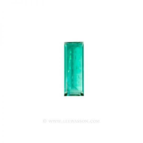 Colombian Emeralds, Baguette cut Emeralds. - leewasson.com - 10024 -4