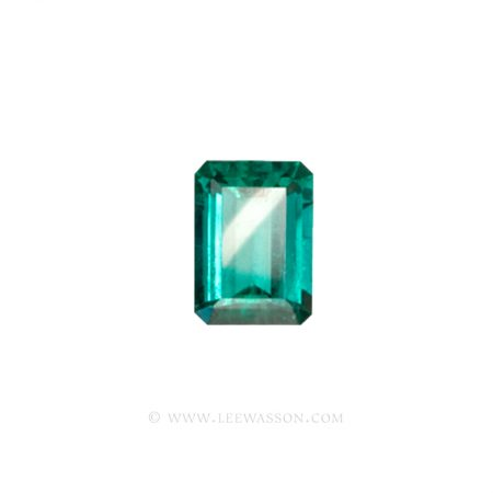 Colombian Emeralds, Emerald cut Emeralds. leewasson.com - 10012 - 1