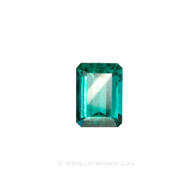 Colombian Emeralds, Emerald cut Emeralds. leewasson.com - 10012 - 1
