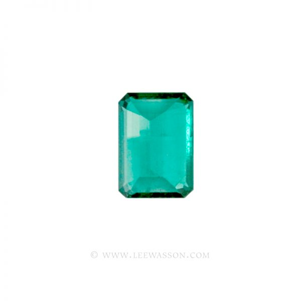 Colombian Emeralds, Emerald cut Emeralds. leewasson.com - 10012 - 4