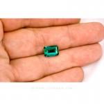 Colombian Emeralds, Emerald cut Emeralds. leewasson.com - 10012 - 5