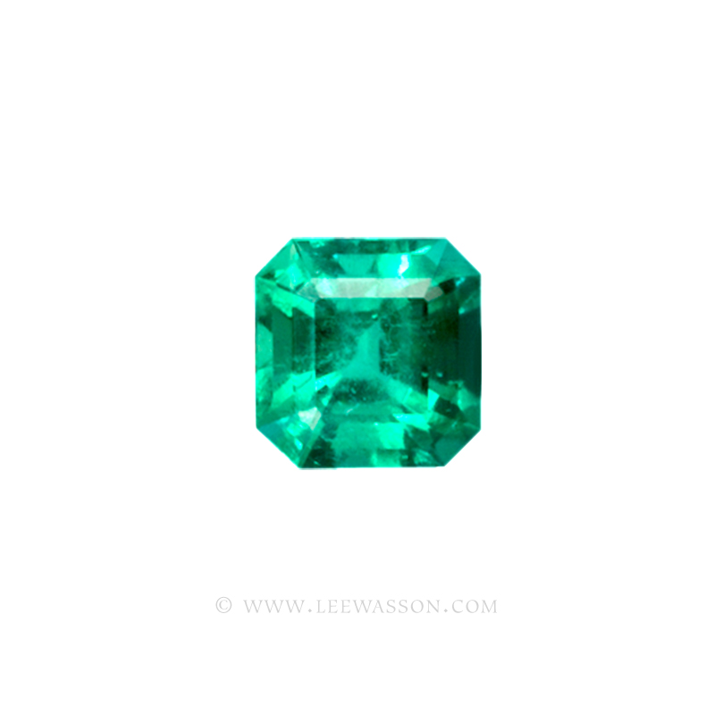 Colombian Emeralds, Asscher cut, Square Cut Emeralds, Emerald cut Emeralds, Fine Loose Colombian Emeralds, Dazzling Colombian Emerald Jewelry set in 18k Gold Jewelry - leewasson.com - 1 - 10020