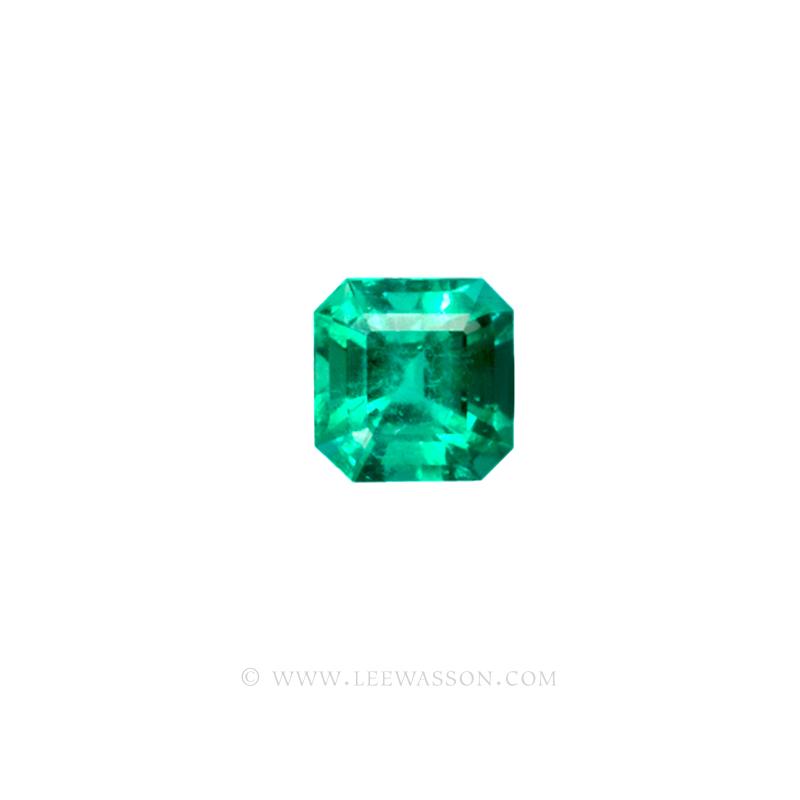 Colombian Emeralds, Asscher cut Emeralds, Emerald Fine Loose Colombian Emeralds, Dazzling Colombian Emerald Jewelry set in 18k Gold Jewelry - leewasson.com - 10020 -2