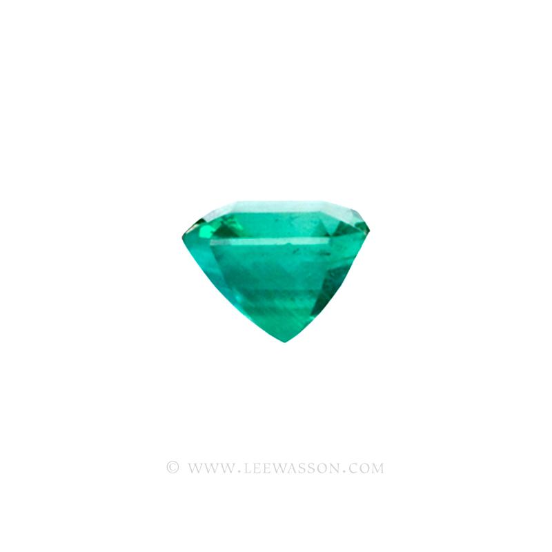 Colombian Emeralds, Asscher cut Emeralds, Emerald Fine Loose Colombian Emeralds, Dazzling Colombian Emerald Jewelry set in 18k Gold Jewelry - leewasson.com - 10020 - 3