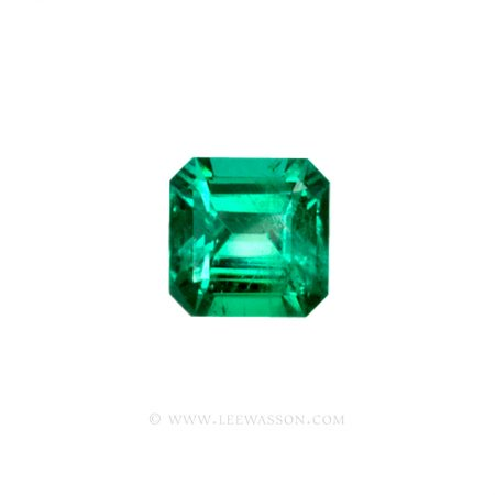 Colombian Emeralds, Asscher cut, Square Cut Emeralds - leewasson.com - 10023 -1