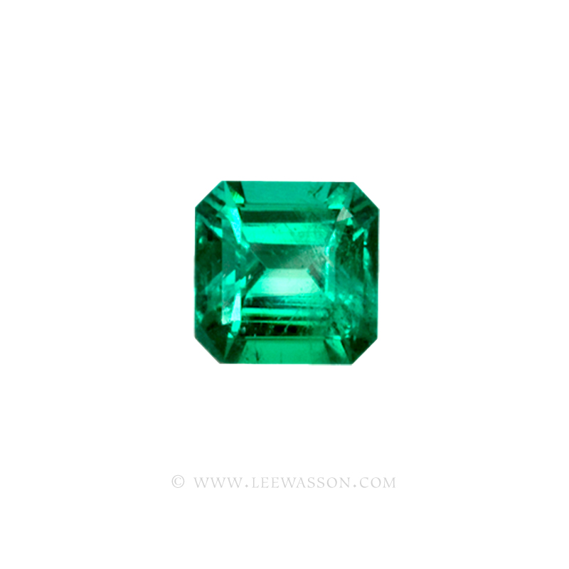 Colombian Emeralds, Asscher cut, Square Cut Emeralds - leewasson.com - 10023 -1