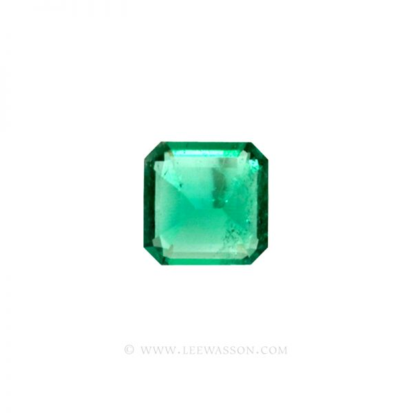 Colombian Emeralds, Asscher cut, Square Cut Emeralds - leewasson.com - 10023 -3