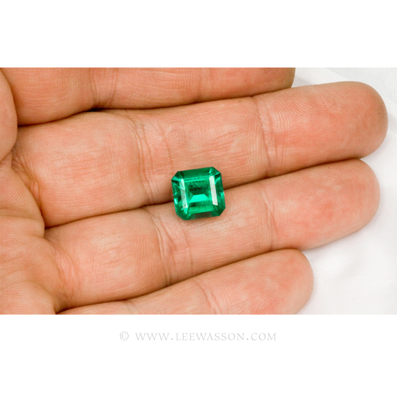 Colombian Emeralds, Asscher cut, Square Cut Emeralds - leewasson.com - 10023 -4