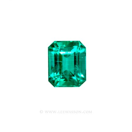 Colombian Emeralds, Emerald Cut natural Emeralds in18k Gold Jewelry. leewasson.com - 10026 - 1