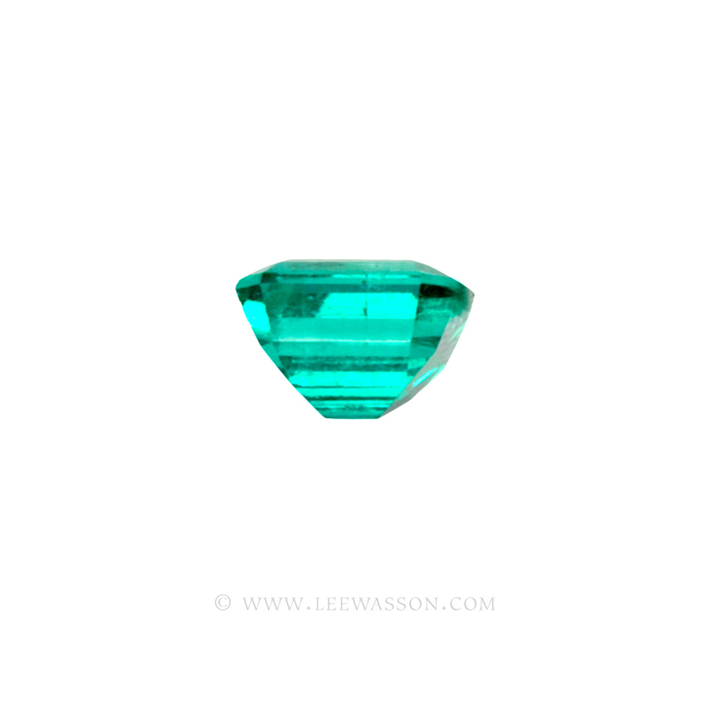 Colombian Emeralds, Emerald Cut natural Emeralds in18k Gold Jewelry. leewasson.com - 10026 - 2