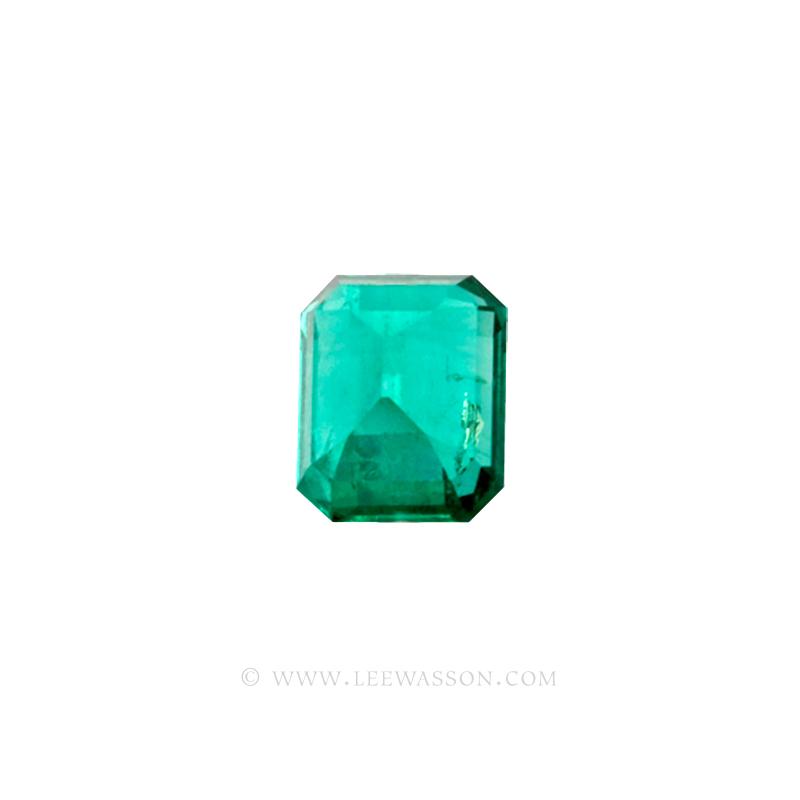 Colombian Emeralds, Emerald Cut natural Emeralds in18k Gold Jewelry. leewasson.com - 10026 - 3