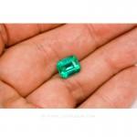 Colombian Emeralds, Emerald Cut natural Emeralds in18k Gold Jewelry. leewasson.com - 10026 - 4