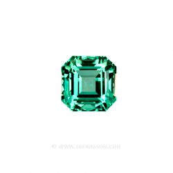 Colombian Emeralds, Emerald Cut, Asscher cut Emeralds set in 18k White Gold - leewasson.com - 10031